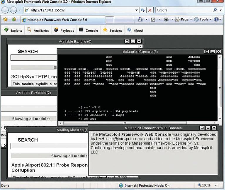 На данный момент, пакет metasploit framework функционирует как на linux так