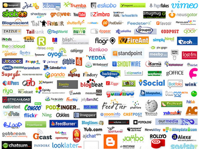 Internet logos and names list